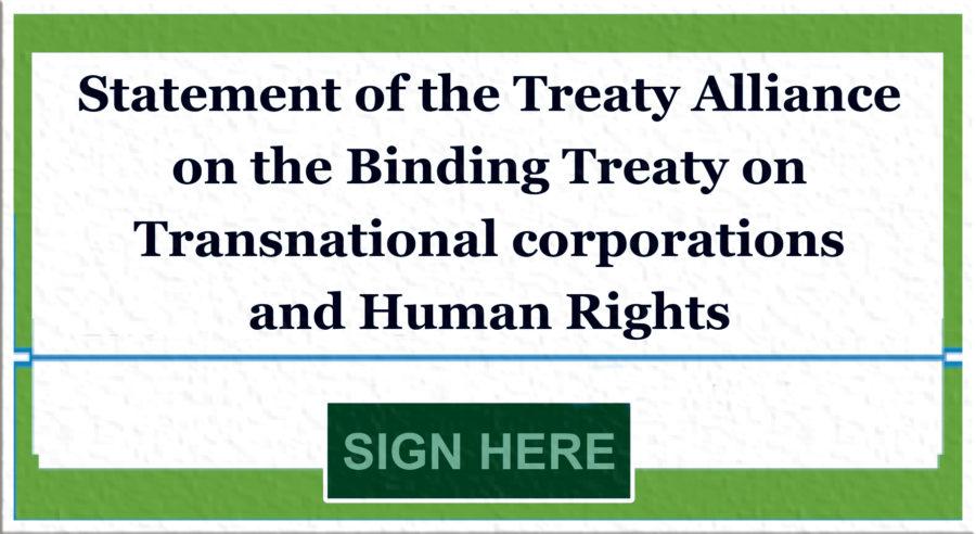 Appel pour un Traité contraignant pour les multinationales et droits humains !
