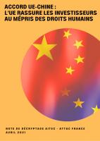 Accord UE-Chine : l'UE rassure les investisseurs au mépris des droits humains