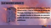Le Traité sur la charte de l'énergie, l'accord qui protège les pollueurs